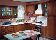 this classical kitchen with its harmonious shapes shows the love for tradition a model for those people who love the warmth of wood able to remind of lost